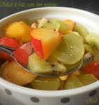 Salade de fruits, raisin, kiwi et nectarine