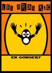 """Affiche de concert """"Les bras KC""""+ Proposition d'identité visuelle"""