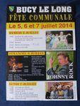 Programme de la fête à Bucy le long , 5/6 et 7 Juillet 2014, le blog de Syla