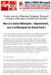 Non à la fusion Métropole - département