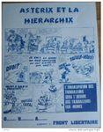 """Affichette """"Astérix et la hiérachix"""". (début des années '70)"""
