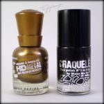 Nail art # 6 - Crackle on gold