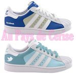 Des baskets Adidas Twitter et Facebook Superstars