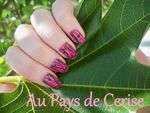 Nail art : Absolutely Stylish d'Essence et crackle rose