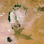 La solution du quiz d'octobre 2010 : la mer d'Aral vue par le satellite européen Envisat