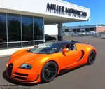 Bugatti Grand Sport Vitesse orange et carbone