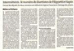Article du Monde du 01.03.13 (conclusions de Filipetti et Sapin à l'Assemblée Nationale, citant entre autres les Matermittentes)