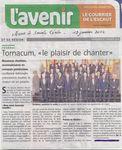 Compte rendu Sainte Cécile de Tornacum/12 janv. 2014