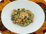 Curry vert de crevettes et patates douces