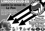 Contre la venue de Le Pen à Limoges le 18 mai