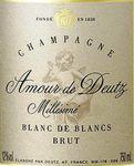 « Champagne Deutz Amour de Deutz 2003 »