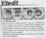 Le sucre en jupon dans le courrier de Mantes du 2 février!!!