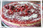 Bavarois aux fruits exotiques et fruits rouges