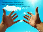 """Wallpaper """"Encomendando mis proyectos a Dios""""."""
