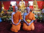The ordination ceremony of two Belgian men at Wat Thai Dhammaram
