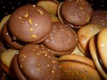 Woopies au chocolat, woopies aux amandes (thermomix)