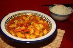 Poulet curry jaune au lait de coco