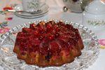 Gâteau comme une tatin aux canneberges