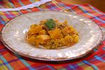 Mijoté de butternut aux pois chiches et abricots secs