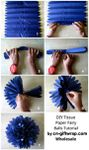 How to Make Tissue Paper Fairy Flower Ball Decorations