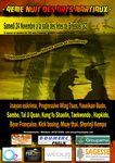 Affiche et vidéo de la nuit des arts martiaux