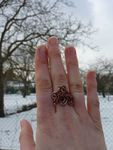 [Bijoux] Curled coppery ring