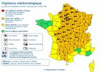 67 départements dans le orange