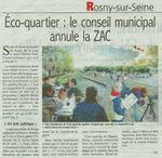 14 Avril 2014 _ La ZAC Eco quartier Mantes Rosny annulée