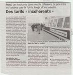 Tarifs à la Marseillaise