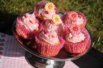 Cupcakes rose et framboise