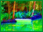 Peintures et tableaux numériques.Barques.Sentier.Par Jipé