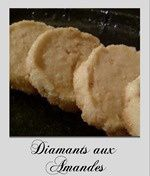 diamants aux amandes, gateau sec
