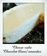 cheesecake chocolat blanc amandes