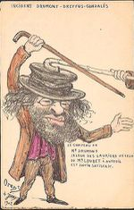 1898 - Caricature affaire Dreyfus