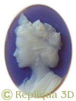 Sculpture de bijou personnalisé: camée Princesse - Repliqua 3D: sculpteur, artisan d'art