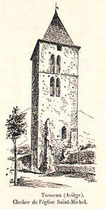 FRAD09 ZO326 clocher eglise saint michel