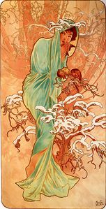 Alfons Mucha - 1896 - Winter