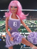 Tricot Barbie, robe pompom girl - 05.06.11 - 01