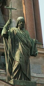 Apostle Philip on St.Isaac cathedral (SPb)