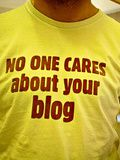 no one cares about your blog