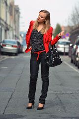 veste rouge blog mode