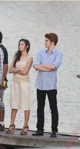 rob's et kristen's stunts on set for marina sequence 1