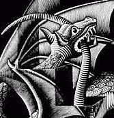 d&#xE9;tail du 'Dragon' de Max Escher