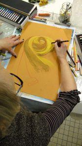 Drapé -Dessin - Peinture - Atelier de Flo 08 - 2