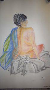 Drapé -Dessin - Peinture - Atelier de Flo 08 - 31