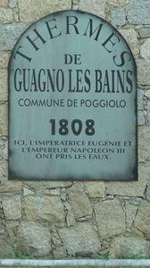 plaque Guagno les Bains