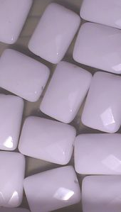 agates blanches rectangle taillees