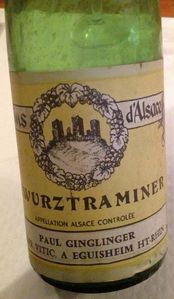 gewurztraminer 1971 Ginglinger paul