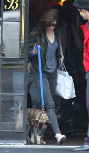 Kristen Stewart & Bear in NYC 1