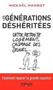 « Les générations déshéritées » de Mickaël MANGOT